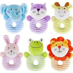 0-1 Years Baby Rattle Gift Infant Kids Plush Toy Doll Educat