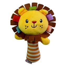 0-3 Year Baby Kids Cute Cartoon Animal Soft Plush Rattles Ha