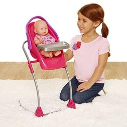 Chicco 4-in-1 Eat & Swing Highchair for Baby Dolls, Pink
