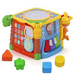 MzekiR 5 in 1 Music Drum Activity Cube Toy