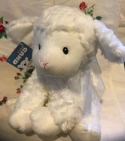 "10"" Baby Gund Lena Lamb Musical Plush Stuffed Animal Toy Val"