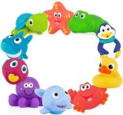 10 pack little squirts fun bath toys