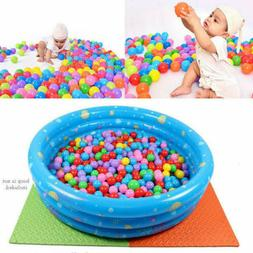 100 PCS Colorful Ball Soft Plastic Ocean Ball Funny Baby Kid