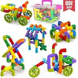 POKONBOY 100 PCS Pipe Building Blocks Stem Toys, Educational