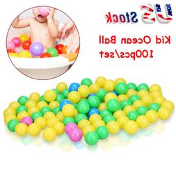 100pcs Colorful Ball Soft Plastic Ocean Ball Funny Baby Kids