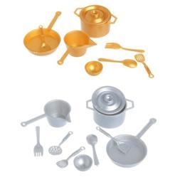 10pcs 1:12 Fork Pot Kitchen Set Food Toys Accessories Dollho