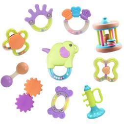 10pcs Baby Rattles,baby shaker toy,infant newborn rattles,ne