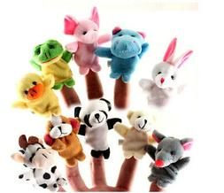 10Pcs Family Finger Puppets Cloth Doll Baby Educational Hand