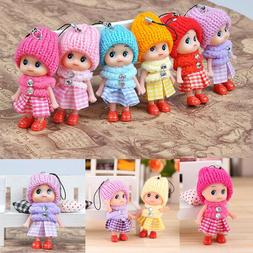 10pcs Kids Toys Soft Interactive Baby Dolls Toy Mini Doll Cu