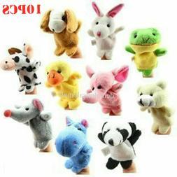 10pcs set cartoon animal finger puppets cloth