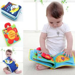 12 pages Soft Cloth Baby Boys Girls Books Rustle Sound Infan