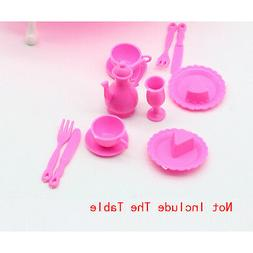 12 PCs Girl Birthday Gift Dinner Table For Doll Accessories