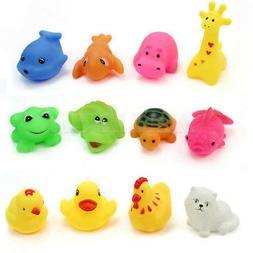12Pcs Animals Soft Rubber Float Baby Wash Bath Swimming Toys