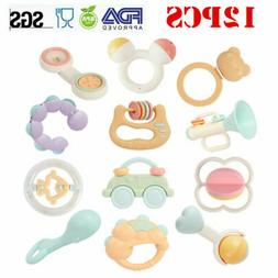 Baby Newborn Rattles Teether Toys Infant Shaking Bell Rattle
