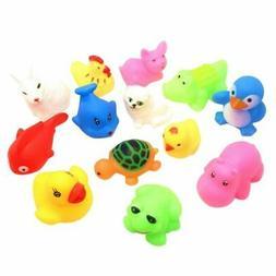 13* Rubber Duck Bath Duck Squeaky Baby Kids Animals Floats S