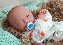 14'' Reborn Baby Boy Real Doll Full Body Vinyl Silicone Hand