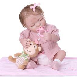 "18"" Newborn Baby Girl Eyes Closed Real Life Reborn Dolls Sil"