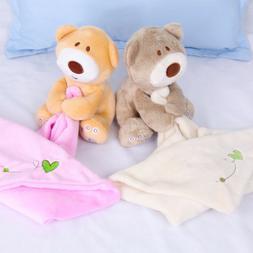 1pc Baby Bib Comfortable Cute Animals Appease Toy Feeding Ac