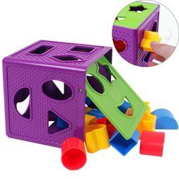 1pcs Baby Blocks Shape Sorter Toy Blocks Multi Shapes Color