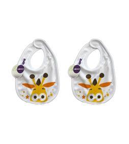 2 GEOFFREY The Giraffe Toys R Us baby bib infant feeding bib