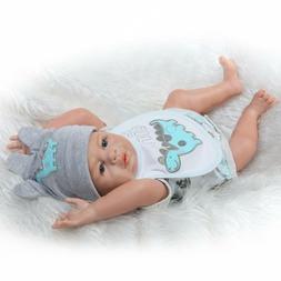 """20"""" Reborn Baby Dolls Realistic Newborn Boy Doll Silicone Fu"""