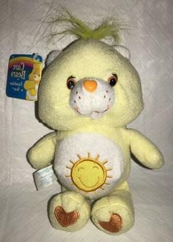 "2002 Care Bears Baby Funshine Bear 8"" Yellow Plush Toys NW"