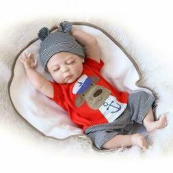 """23"""" Reborn Baby Boy Doll Realistic Handmade Full Body Silico"""