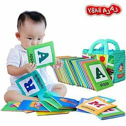 LALABABY 26 Letters Cloth Card with Cloth bag Early Educatio