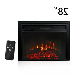 """28"""" 750W/1500W Recessed Electric Fireplace Wall Mount Heater"""