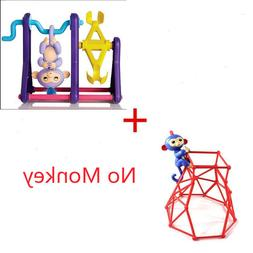 2Pcs=Red Jungle Gym Playset + Seesaw Set for Baby Fingerling