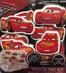 Cars 3 Disney Pixar Tub Time Activity Bath Set  Foam Lightni