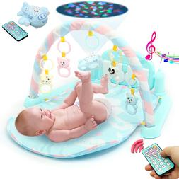 3 In 1 Baby Musical Gym Play Mat Kick Floor Activity Piano F
