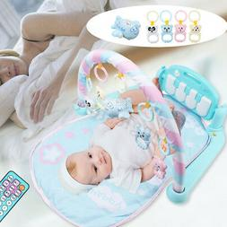 3 in1 Baby Gym Musical Play Mat Kick Piano Exercise Fun Fitn