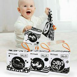 3 Pieces of Black and White Cloth Book Baby Toys Early Educa