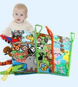 3D Non-Toxic Development Cloth Animal Book Early Educational