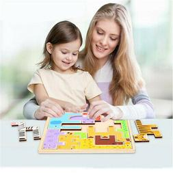 3D Wooden Cartoon Animal Jigsaw Puzzles Natural Wood Hot For