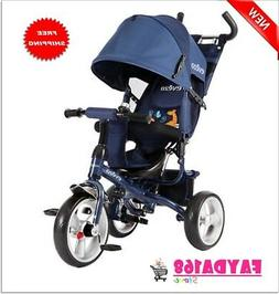 4-in-1 Tricycle Ride-On Trike Bike Bicycle Canopy Kids Toys