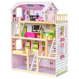 Best Choice Products 4-Level 32.25in Kids Wooden Cottage Upt