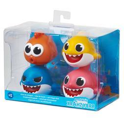 4 pack baby shark bath toys