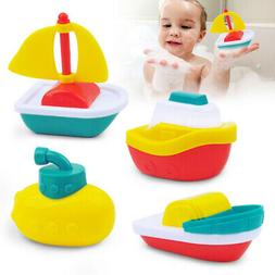 4pack baby toys floating boats plastic bath