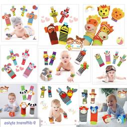 The Season Toys 4pcs Infant Baby Wrist Rattles and Foot Sock