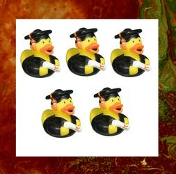 5 Pieces - Graduation Cute Funny Rubber Ducky | Party, Showe