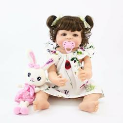 55cm Full Body Silicone Reborn Baby Doll Toys For Girls Chea