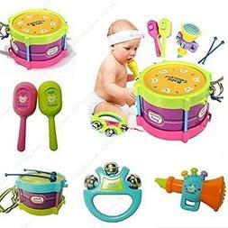 5Pcs Baby Boy Girl Drum Set Musical Instrument Kid Band Kit
