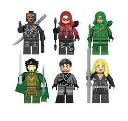 6pcs Green Arrow Building Bricks Block Action Heroes FIT LEG