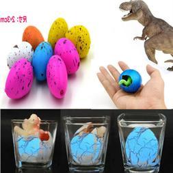 6Pcs Magic Hatching Dinosaur Eggs Kid's Educational Add Wate