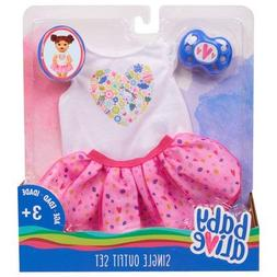 Baby Alive 75241 Single Outfit Set - White Tee Pink Tutu, Mu