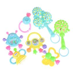 7Pcs Newborn Toddler Baby Shaking Bell Rattles Teether Toys