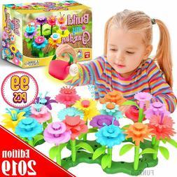 99 pcs flower garden building toys