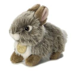 Aurora World Miyoni Baby Bunny Plush, Grey